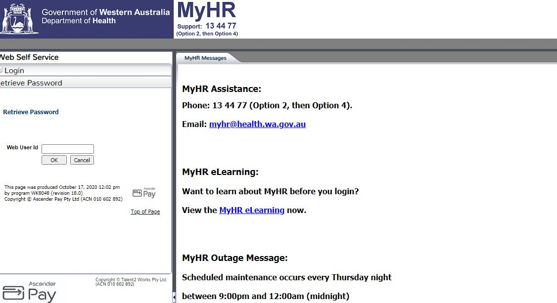Myhr Health Wa Login